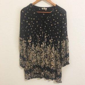Billabong • Boho Lace Up Mini Dress